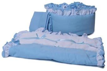 (Blue) - Baby Doll Bedding Regal Cradle Bedding Set, Blue