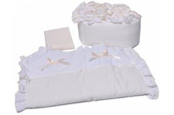 (Ecru) - Baby Doll Bedding Regal Cradle Bedding Set, Ecru