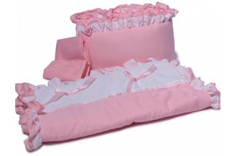 (Pink) - Baby Doll Bedding Regal Cradle Bedding Set, Pink