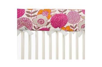 (Long) - Glenna Jean Millie Crib Rail Protector, Floral, Long