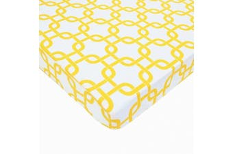 (Golden Yellow Twill Gotcha) - American Baby Company Fitted Portable/Mini Crib Sheet, 100% Cotton Percale, Golden Yellow Twill Gotcha