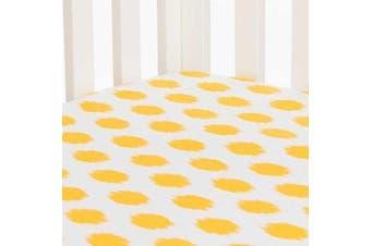 Swizzle Yellow Dot Fitted Sheet