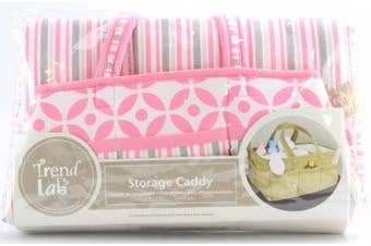 (Pink) - Trend Lab Lily Storage Caddy, Pink