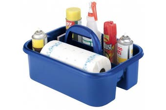 (36cm  by 46cm  by 23cm ) - Akro-Mils 09185 BLUE Plastic Tote Caddy, 36cm by 46cm by 23cm , Blue