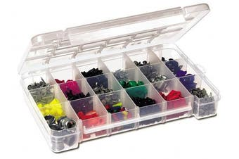 (37cm  L by 24cm  W by 6.4cm  H) - Akro-Mils 5905 Plastic Parts Storage Case for Hardware and Craft, Large, Clear