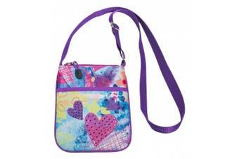 3C4G Sparkling Hearts Mini Cross-Body Bag