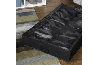 (Pack Of 1) - Richards Homewares Gearbox Sixteen Cell Shoe Organiser-Black/Grey by Richards Homewares