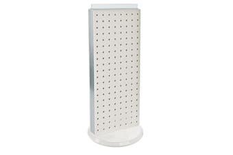Azar 700509-YEL Pegboard Two-Sided Non-Revolving Counter Display, Yellow Translucent Colour
