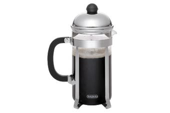 (3 Cup) - BonJour Coffee Stainless Steel French Press with Glass Carafe, 380ml, Monet, Black Handle