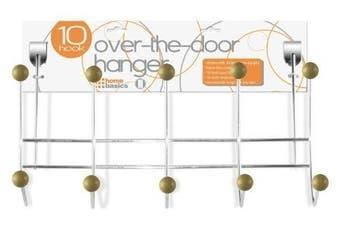 Home Basics 5 Hook Over The Door Hanger, Wood