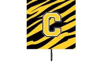 (c) - Monogram - Tiger Stripe - Black Gold Leash Holder or Key Hook CJ1026