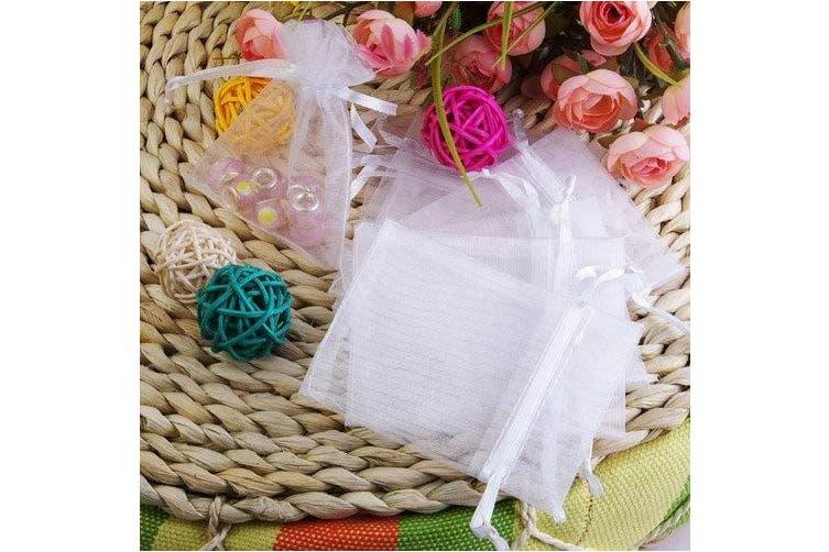 KINGWEDDING 100Pcs White Sheer Organza Jewellery Pouches Wedding Party Favour Gift Bags 6X8cm
