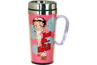 (Betty Boop Nurse) - Betty Boop Nurse Insulated Travel Mug, Pink