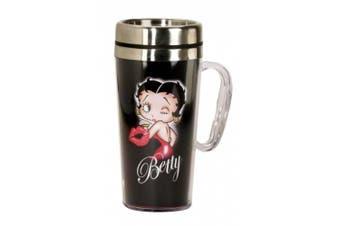 Betty Boop Kiss Insulated Travel Mug, Black