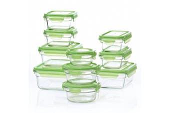 (Round, 4-Piece) - Glasslock 4-Piece Oven Safe Round Food Storage Containers Set