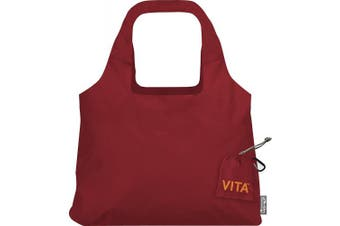 """(19 x 12.5-Inch Bag/4 x 4-Inch Pouch"""",""""Red) - ChicoBag Vita Compactable Reusable Shopping Tote/Grocery Bag with Pouch"""