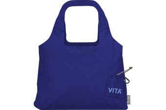 """(19 x 12.5-Inch Bag/4 x 4-Inch Pouch"""",""""Mazarine Blue) - ChicoBag Vita Compactable Reusable Shopping Tote/Grocery Bag with Pouch"""
