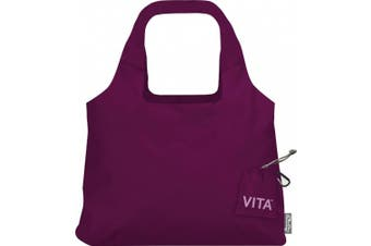 """(19 x 12.5-Inch Bag/4 x 4-Inch Pouch"""",""""Boysenberry) - ChicoBag Vita Compactable Reusable Shopping Tote/Grocery Bag with Pouch"""