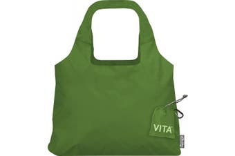 """(19 x 12.5-Inch Bag/4 x 4-Inch Pouch"""",""""Pale Green) - ChicoBag Vita Compactable Reusable Shopping Tote/Grocery Bag with Pouch"""