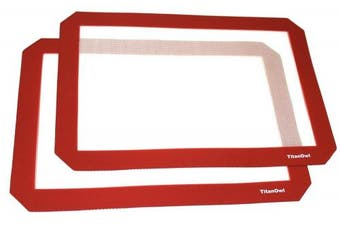 2 x Silicone Mat Non-Stick for Baking or Wax Concentrate 30cm x 22cm by TitanOwl