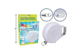 12m White Vinyl Retractable Clothesline