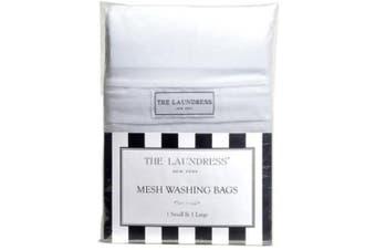 The Laundress - Mesh Washing Bags, 1 Small & 1 Large, 100% Nylon, Covered Zipper, Mesh Wash Bag, Lingerie Bags for Laundry, Mesh Laundry Bag for Delicates, Delicates Bag for Washing Machine