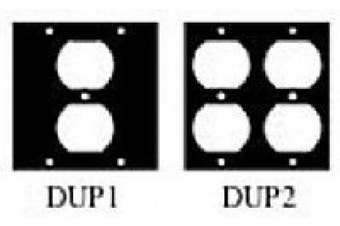 UCP Series Duplex Receptacle Cable Punchouts