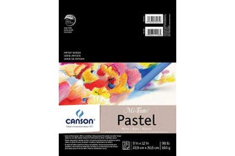 (23cm  x 30cm , White) - Canson Mi-Teintes Pastel Paper Pad, White with Glassine, Dual Sided Light and Heavy Texture, Top Wire Bound, 44kg, 23cm x 30cm , White, 16 Sheets