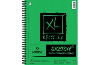 (23cm  x 30cm ) - Canson XL Recycled Sketch Pad, 23cm x 30cm Side Wire