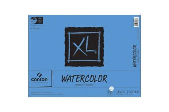 (28cm  x 38cm ) - Canson XL Series Watercolour Textured Paper Pad for Paint, Pencil, Ink, Charcoal, Pastel, and Acrylic, Fold Over, 60kg, 28cm x 38cm , 30 Sheets