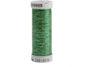 (Christmas Green) - Sulky Of America Holoshimmer Polyester Metallic Thread, 250 yd, Christmas Green