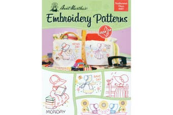 (Sunbonnet) - Aunt Martha's 407 Sunbonnet Days Embroidery Transfer Pattern Book Kit