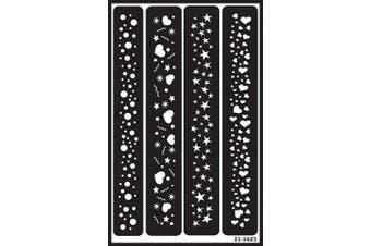 (Sparkle Borders) - Over 'N' Over Reusable Stencils 13cm x 20cm