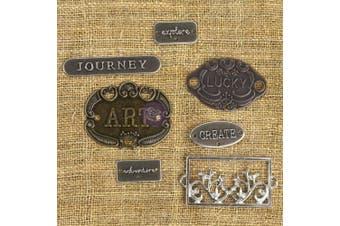 (Plate & Label 7/Pkg) - Prima Marketing Mechanicals Metal Embellishments