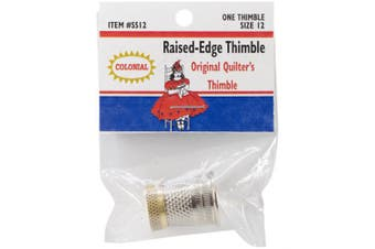 (Size 12) - Colonial Needle SST-12 Raised Edge Thimble, Size 12