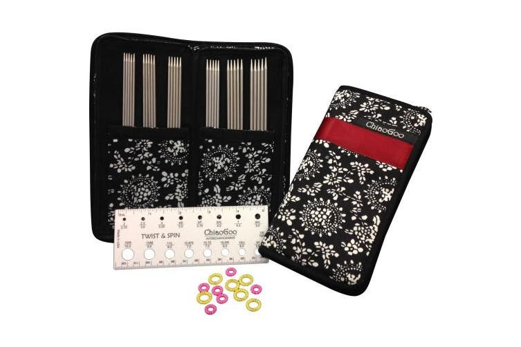 ChiaoGoo Double Point Stainless Steel Knitting Needle 15cm Set