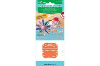 (Orange) - Clover Kanzashi Flower Maker Gathered Petal Small