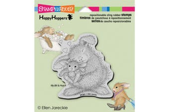 (bunnyluv) - Stampendous HappyHopper Cling Stamp