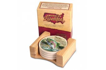 (Rainbow Trout) - American Expedition Set of 4 Stone Coasters