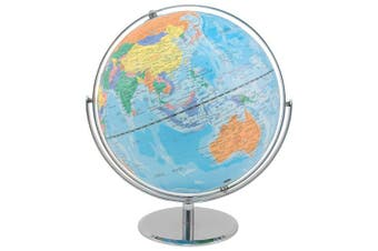 (1 PACK) - Advantus Corporation 30502 World Globe With Blue Oceans, Metal Desktop Base