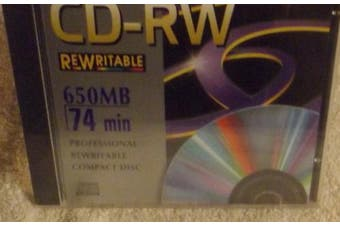 Memorex CD-RW Rewritable 650 MB 74 min Professional Rewritable Compact Disc
