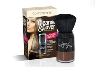 (Dark Brown) - Cover Your Grey Cleanse & Cover Hair Freshener