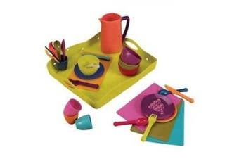 B. Toys Lets Dish Play Dishes with Serving Tray and Placemats