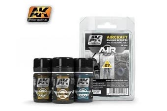 AK Interactive AIRCRAFT ENGINE EFFECTS WEATHERING SET (AIR SERIES) #2000