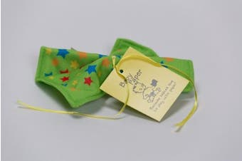 (Green with Stars) - Baby Paper - Crinkly Baby Toy - Green with Stars