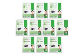 DERMAL Herb Collagen Essence Full Face Facial Mask Sheet 23g Pack of 10