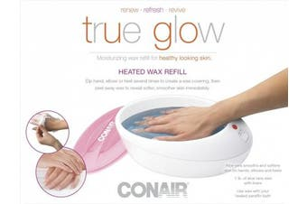 (Unscented) - True Glow by Conair Thermal Paraffin Bath / Paraffin Spa Wax Refill, Unscented wax refill