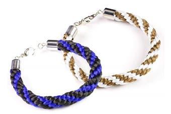9pc Kumihimo Round Starter Kit - Makes 2 Bracelets
