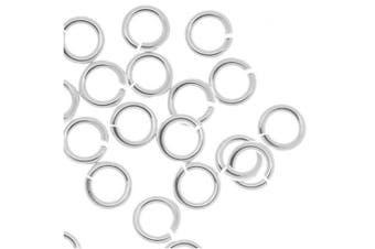 Beadaholique 20-Piece Sterling Jump Lock Rings, 4mm, 20-Gauge, Silver