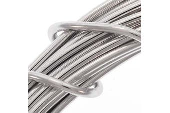 (silver) - Aluminium Craft Wire Silver Colour 12 Gauge 39 Feet (11.8 Metres)